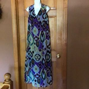 NWT Chico's Crinkle Chiffon Maxi Dress - 0.5